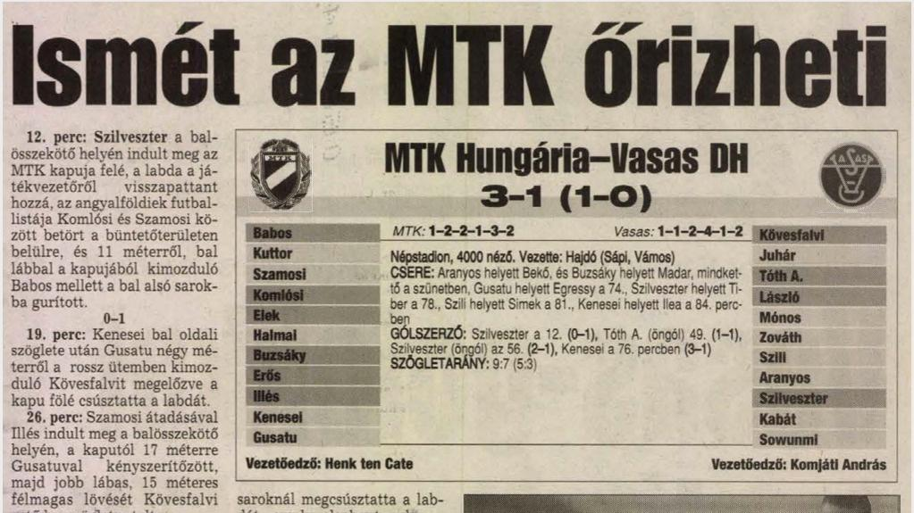 Ezen a napon csapatunk tizenkettedszer lett a Magyar Kupa győztese