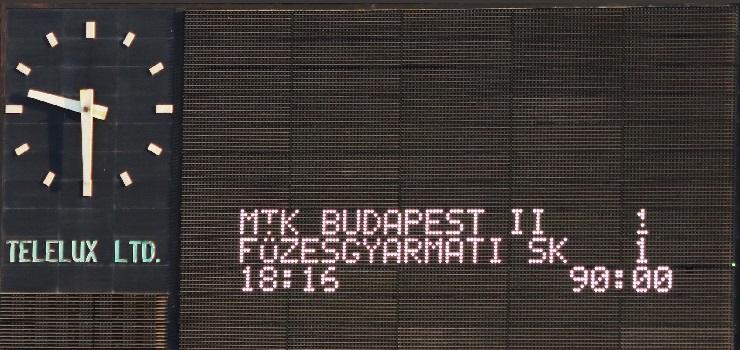 MTK Budapest II-Füzesgyarmati SK 1-1 (0-0) (GALÉRIA)