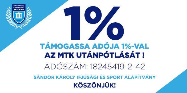 Kérjük, támogassa az akadémiánk munkáját adója 1 százalékával!