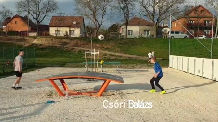 Így edzenek otthon U13-as csapatunk játékosai (videó)