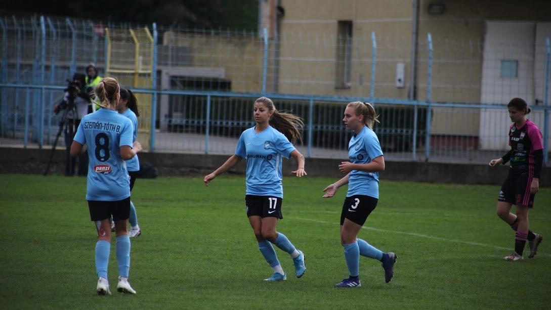 Simple Női Liga: 6-0-ra nyertünk Győrben, öt játékosunk debütált a bajnokságban